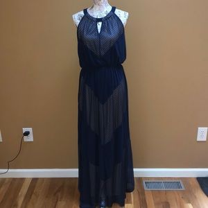 NWT Apt. 9 Navy Maxi Dress